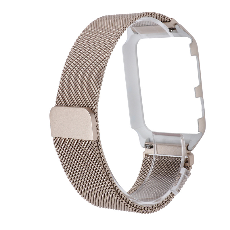 For Apple 3 S Watch Strap Protective Case One-piece 38mm 42mm Milan Stainless Steel Watch Band 4 Generation Protective Case One-