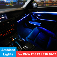 Car Interior LED Ambient Door Bowls Light Stripes Atmosphere Light With 2 Colors For BMW 5 Series F10 F11 F18 Car Accessories