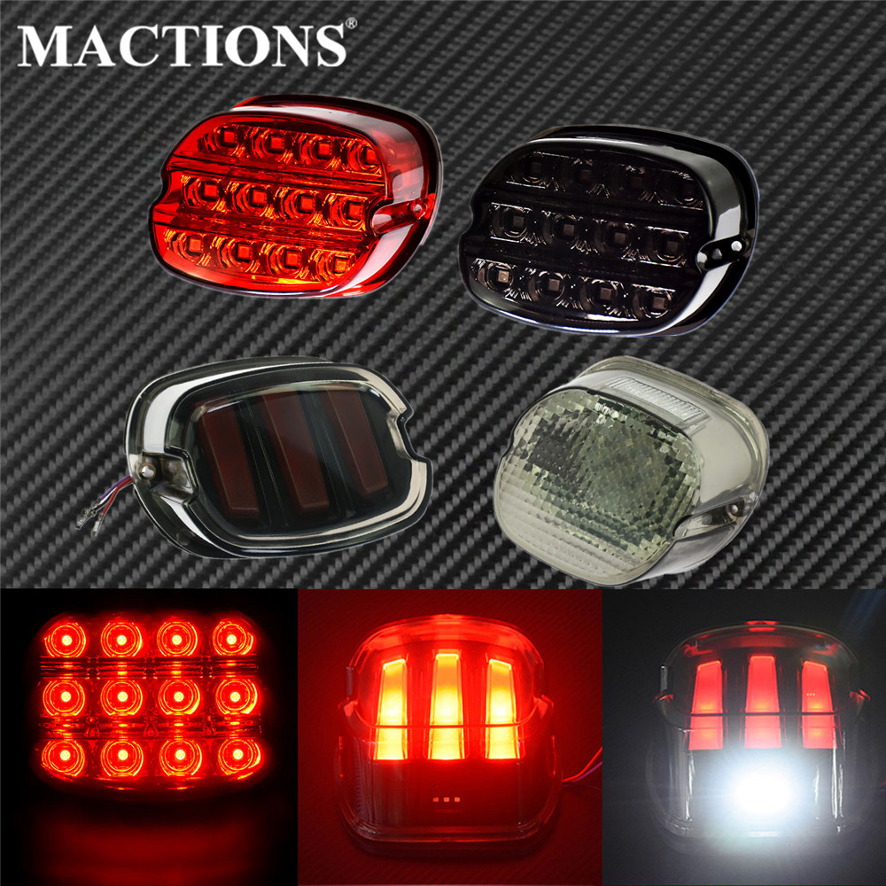Motorcycle LED Tail Light Brake License Plate Turn Signal Light Rear Stop Lamp For Harley Sporster Touring Dyna Road King Fatboy