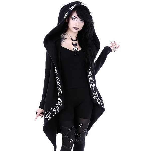 Out Streetwear Women Halloween Hoodies Sweatshirt Harajuku Women Long Sleeve Oversized Jacket Punk Gothic Hoodies Coat Clothes