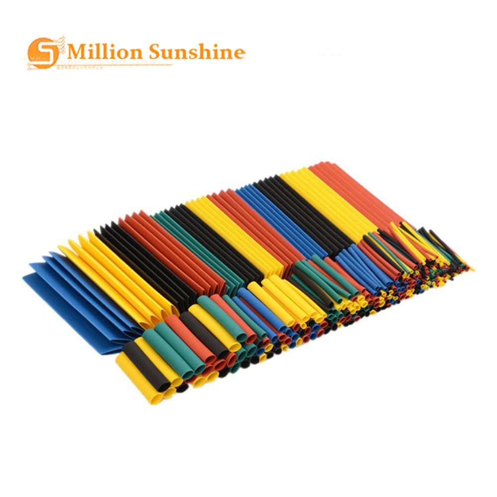 328pcs Heat Shrink Tubing Tube Wire Insulation Sleeving Kit Car Electrical Shrinkable Cable Wrap Set Assorted Polyolefin RPI157