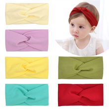 Spring Autumn Fashion Knitted Baby Headbands Baby Hair Accessories Solid Soft Elastic Newborn Baby Girl Boy Turban Headdress(China)