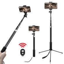 Trépied Portable 158cm pour téléphone, tête à vis 1/4, support Flexible pour Selfie avec télécommande Bluetooth et support pour téléphone