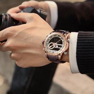 Image 5 - Top marque hommes montres NAVIFORCE mode luxe montre à Quartz hommes militaire chronographe sport montre bracelet horloge Relogio Masculino
