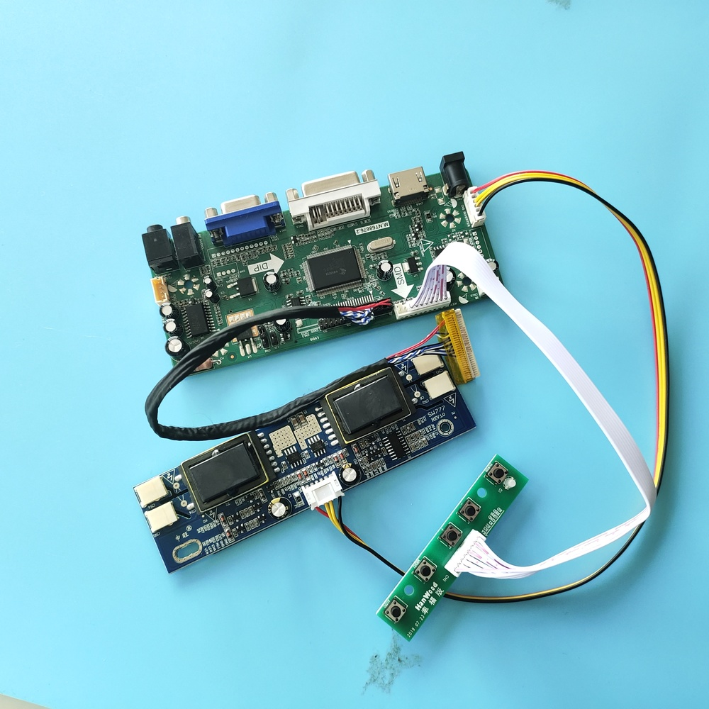 For LTM190M2-L31 1440X900 HDMI Driver VGA DVI  Controller Board Kit LVDS 4 Lamps M.NT68676 DIY 30pin Screen Panel 19