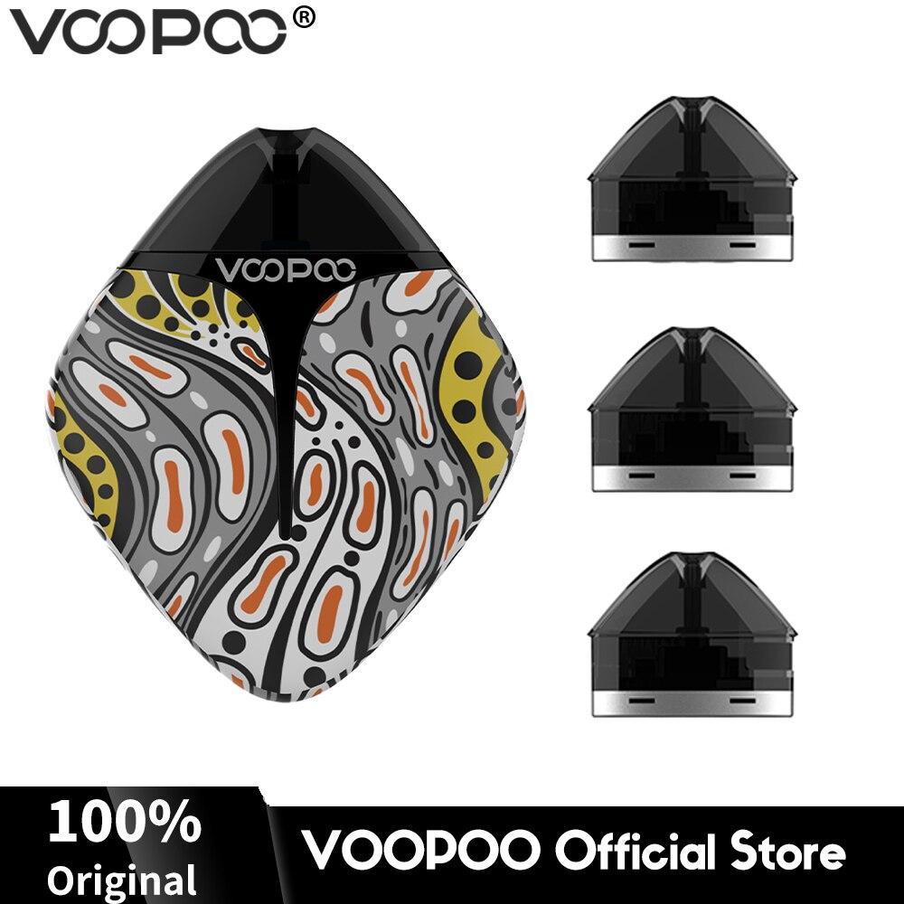 VOOPOO FINIC système de gousse de poisson Kit de Vape 350mAh batterie 1.7ml capacité et 3 pièces cartouche de gousse Mini système de Vape E Cigarettes vaporisateur