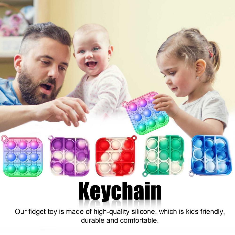 Toys Adult Autism Pop Fidget Keychain Needs Bubble-Sensory-Toy Anti-Stress Funny Push-Pop img3
