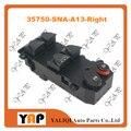 Выключатель стеклоподъемника для FITHonda Civic 1.3L 1.8L L4 Передняя правая рука 35750-sna-a13-правая 2006-2011