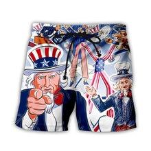 Летние Для Мужчин's Пляжные шорты на шнуровке с рисунком