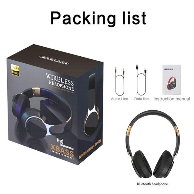 T7 Bluetooth Headphones Foldable Stereo Adjustable Earphones With Mic 6