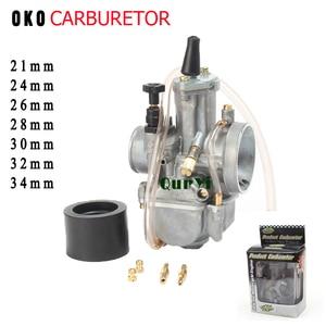 2T 4T Universal Motorcycle Carburetor Carburador 21 24 26 28 30 32 34mm With Power Jet For Racing oko Moto