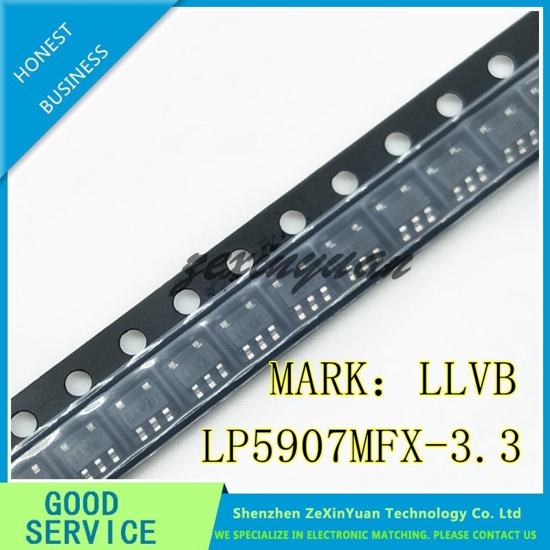 10PCS/LOT  LP5907MFX-3.3/NOPB LP5907MFX-3.3 LP5907MFX LP5907 LLVB IC REG LDO 3.3V 0.25A SOT23-5