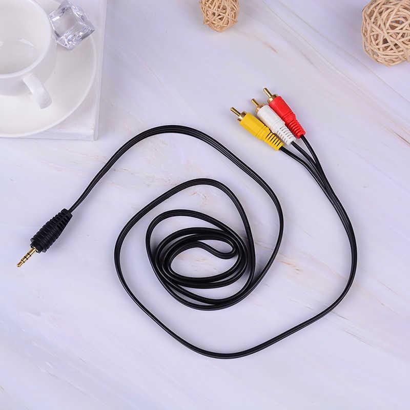 Wtyczka jack 3.5mm do 3 wtyczki RCA męski na męski Audio wideo AV Adapter kabla wysokiej jakości