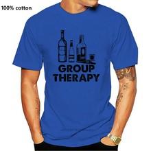 2019 verão legal camisa dos homens t camisa de terapia de grupo engraçado álcool e cerveja camisetas gráfico vodka uísque rum camisas engraçado