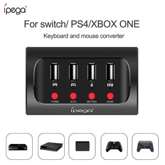 IPega PG 9133 السلكية لوحة مفاتيح وماوس محول محول ل N التبديل/PS4/XBOX ONE لعبة وحدة التحكم ل FPS الألعاب