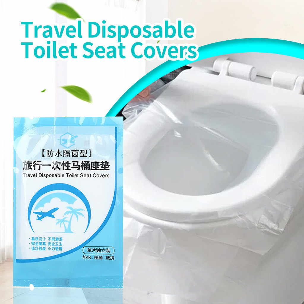 Travel Disposable Toilet Seat Cover Waterproof Portable WC Pad Toilet Mat 30PCS