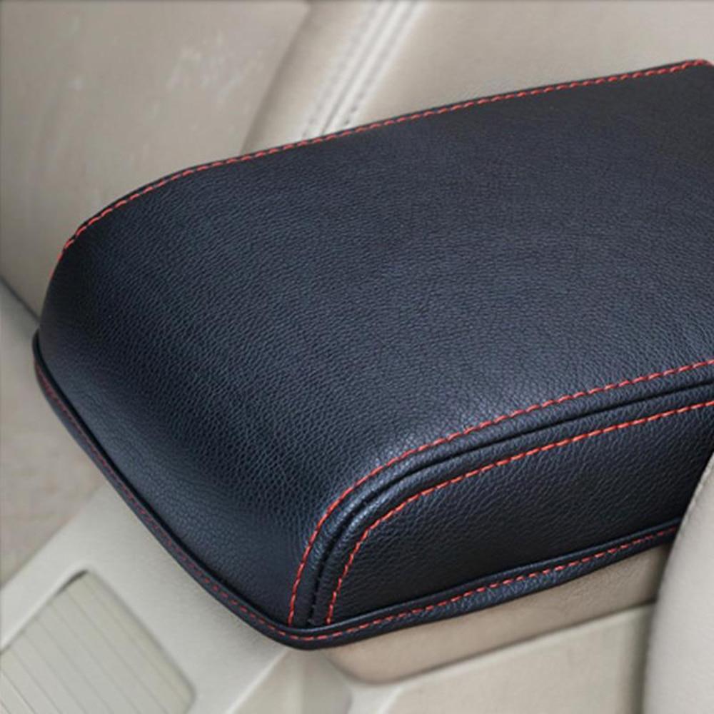 Compartimento de reposabrazos para Skoda Octavia A7 Mk3, funda para coche, cojín de consola central, almohadilla de mano, caja de pasamanos, almohadilla suave de cuero PU aumentada