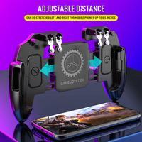 Pubg Controller Gamepad a sei dita attiva Pubg Metal Trigger Joystick Control Pubg per IOS Android Mobile Phone Game Pad
