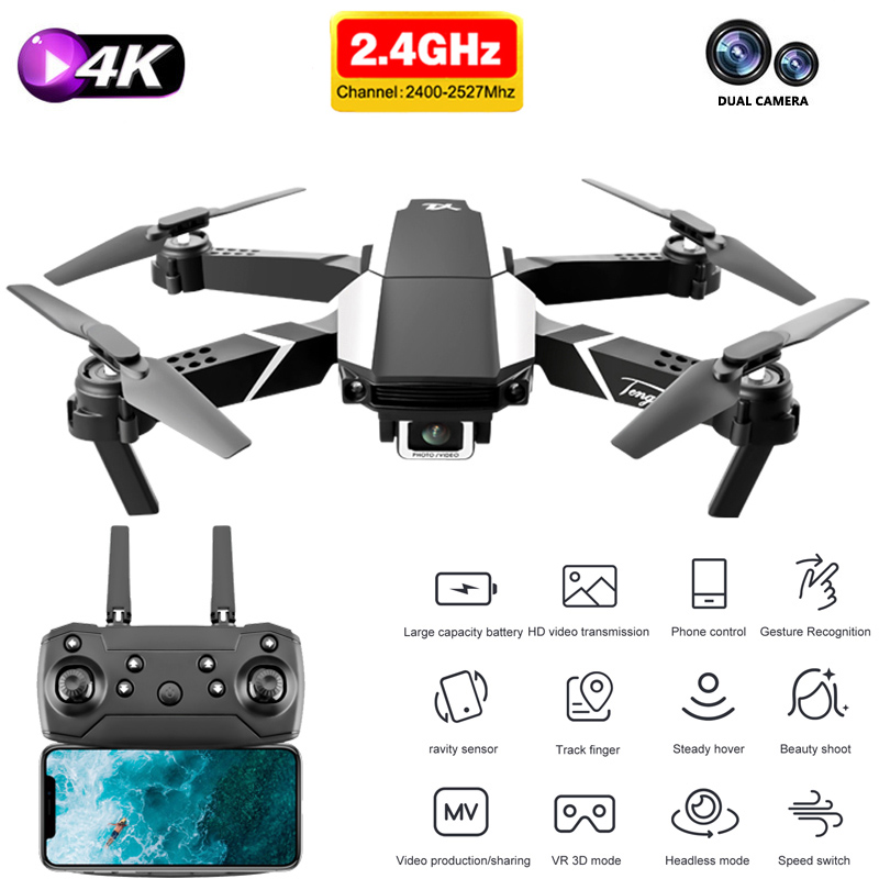 S62 Pro Drone With 4k HD Dual Camera Fpv Height Preservation Professional Quadcopter 1080P WiFi Positioning RC Helicopter Toy