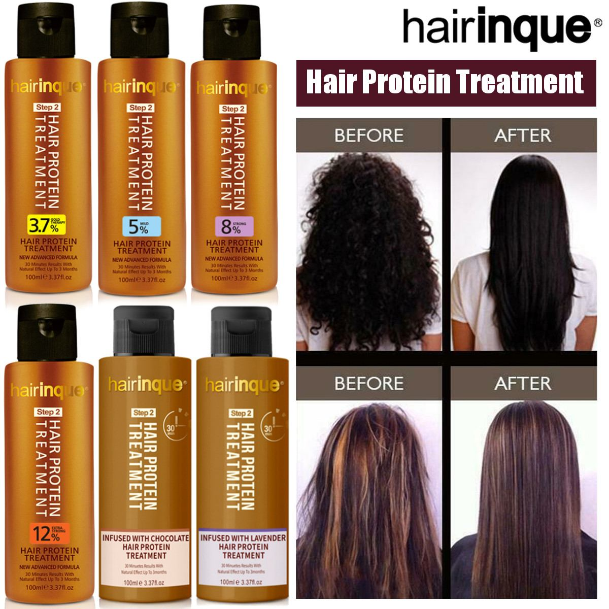 6type Keratin Hair Protein Treatment Purifying Shampoo and Conditioner for Frizzy Damage Hair Repair Hair Straighten 100ml image