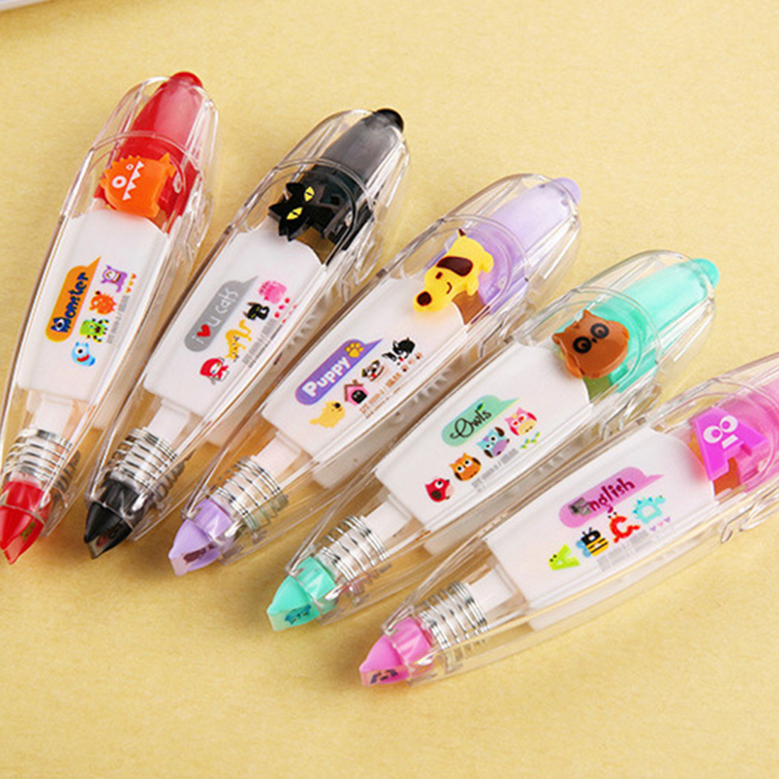FUN Cartoon Floral Sticker Tape Pen Funny Kids Stationery Notebook Diary Decoration Tapes Label Sticker Paper Decor