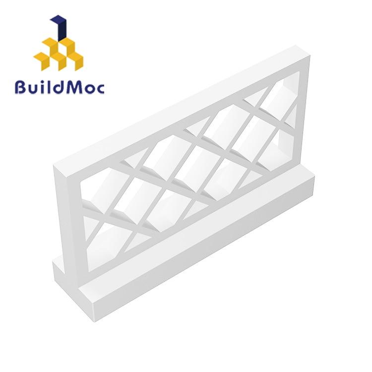 BuildMOC Compatible Assembles Particles 3185 Fence 1x4x2  For Building Blocks Parts DIY Story Educational Gift Toys