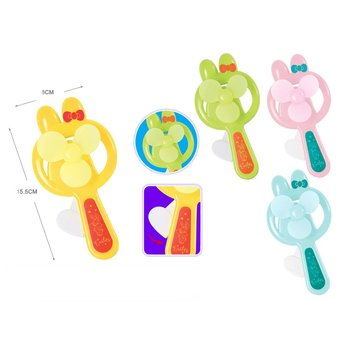 Cartoon Shape Shakes Hand and Presses Mini Fan to Customize OGO 61 Children's Gift Hand-held Usb Charging Fan image
