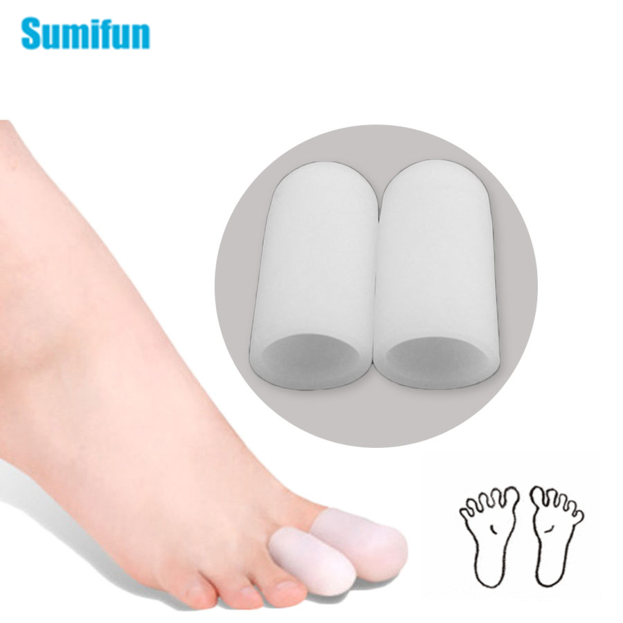 2pcs Toe Tube Foot Corns Blisters Remover Blisters Gel Bunion Toe Seperators Gel Tube Bandage Finger Feet Care C129
