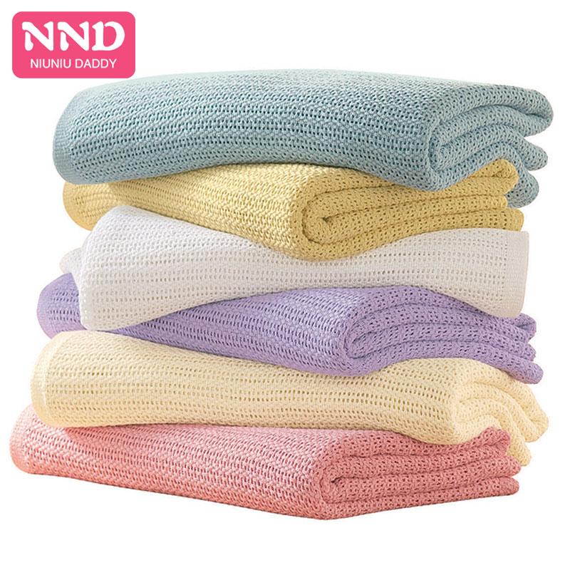 Baby Blanket Swaddle Wrap Newborn Blankets Muslin Crochet Cotton Baby Sleeping Blanket Bed Supplies Hole Wrap By Niuniu Daddy