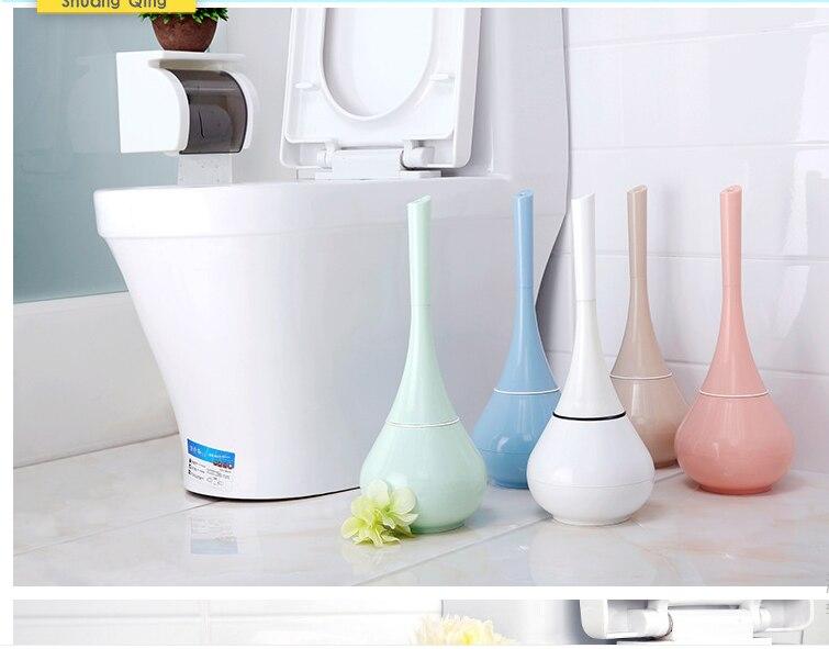 Купить 1 шт творческая синая пластик туалетная щетка круглая дома ванная
