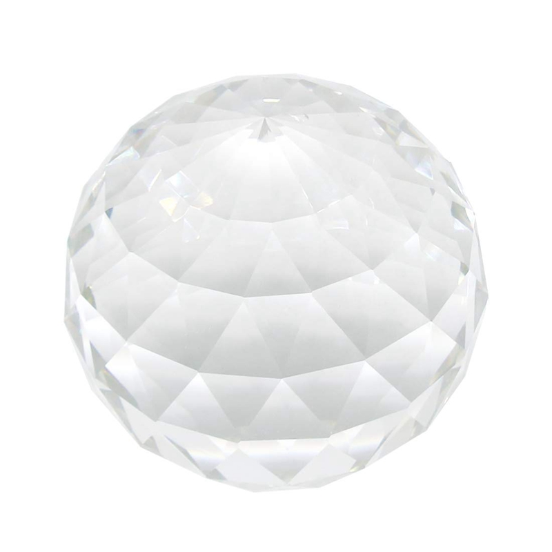 Clear Cut Crystal Suncatcher Ball Prisms Glass Sphere Faceted Gazing Ball Crystals for Window Sun Catchers 80mm / 3.15In