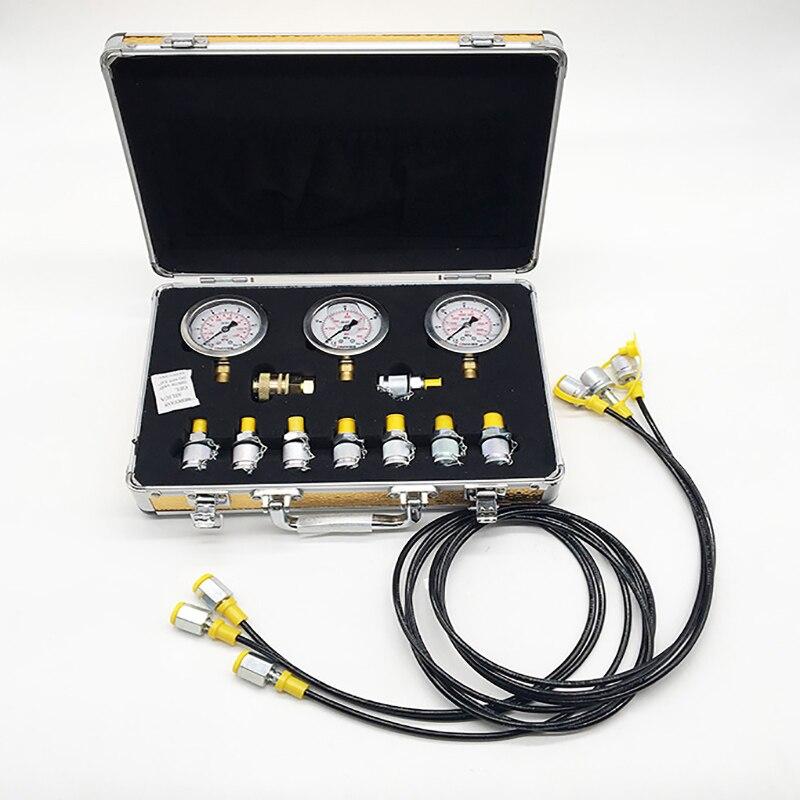 Tableau d'essai de boîte de manomètre hydraulique d'excavatrice d'essai portatif de haute précision manomètre hydraulique de pompe