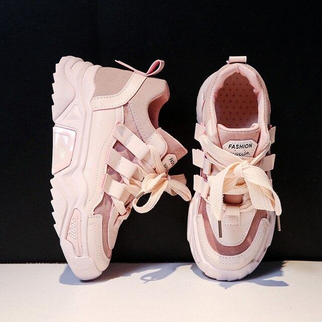 النساء حذاء كاجوال شبكة أحذية رياضية للنساء منصة الشقق أحذية مكتنزة ماركة فاخرة تنفس مريحة الإناث الأحذية Mujer