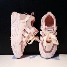 Tênis feminino casual malha plataforma, calçado feminino robusto confortável