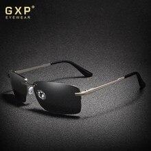 Gxp 2020 retângulo óculos de sol homem viagem polarizado óculos de sol sem aro uv400 masculino pesca oculos gafas