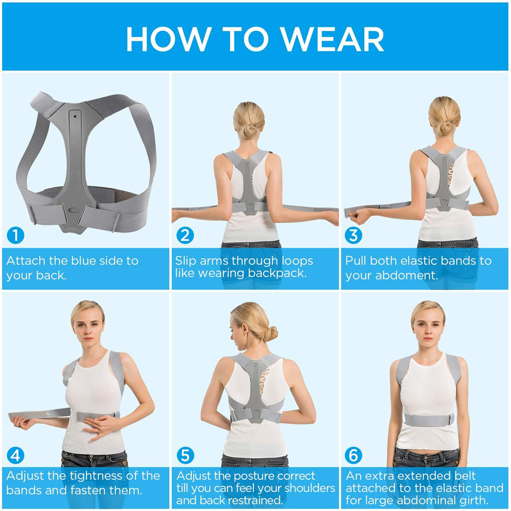 Adjustable Posture Corrector Belt for Clavicle and Spine Support Helps to Relief Back Pain Suitable for Unisex 3