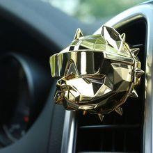 Bulldog Fashion Car Air Freshener Perfume Clip Fragrance Auto Vents Scent Odor Purification Freshener  Interior Accessories