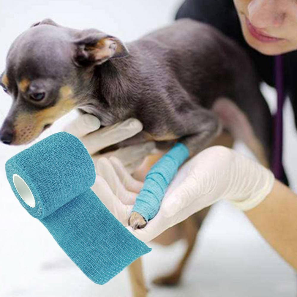 Flexible Self Adherent Cohesive Pet Cat Bandage Medical Elastic Dog Bandage Vet Tape Wraps Waterproof