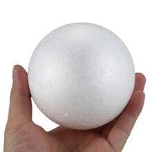10 x Weihnachten Dekoration Modelliert Fertigkeit Polystyrol Schaum Ball Kugel 10cm --- Weiß