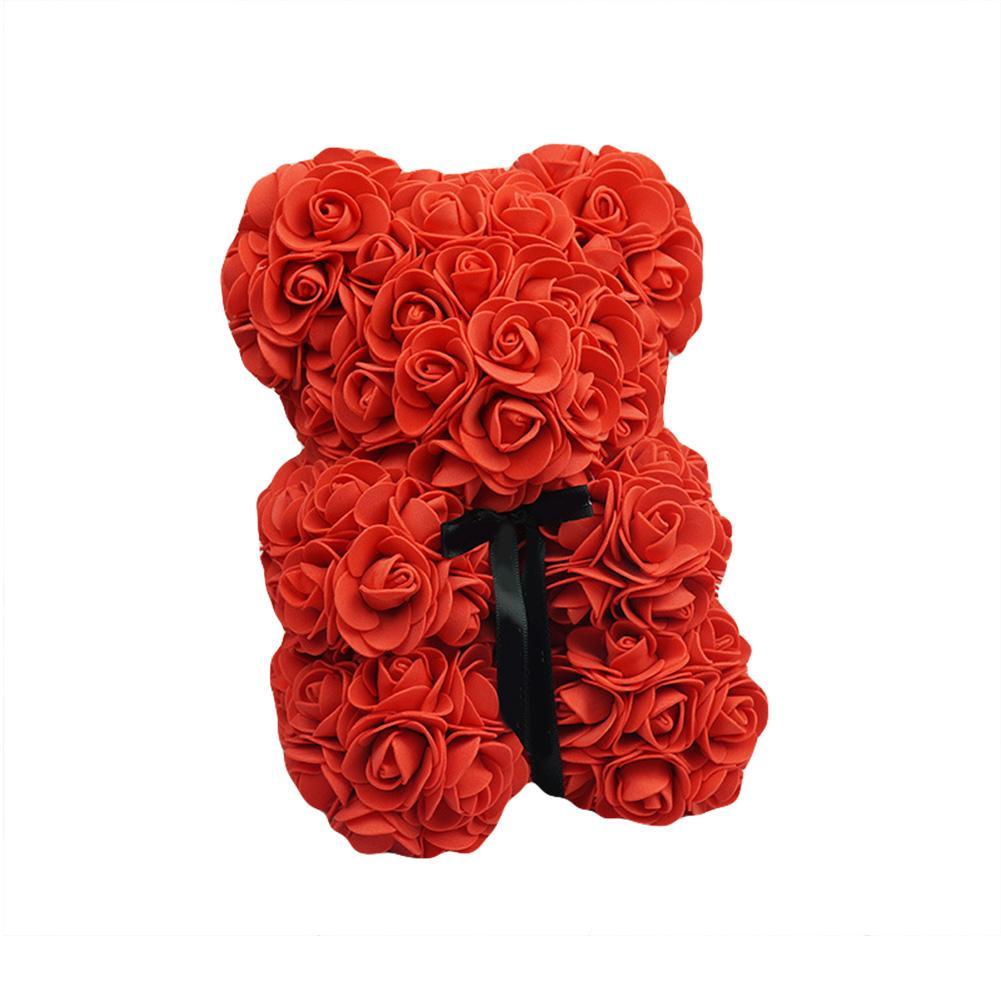Toys Foam Rose Bear Modeling DIY Craft Valentine Party Decoration Supplies Gift DIY Craft Toy White Foam Bear