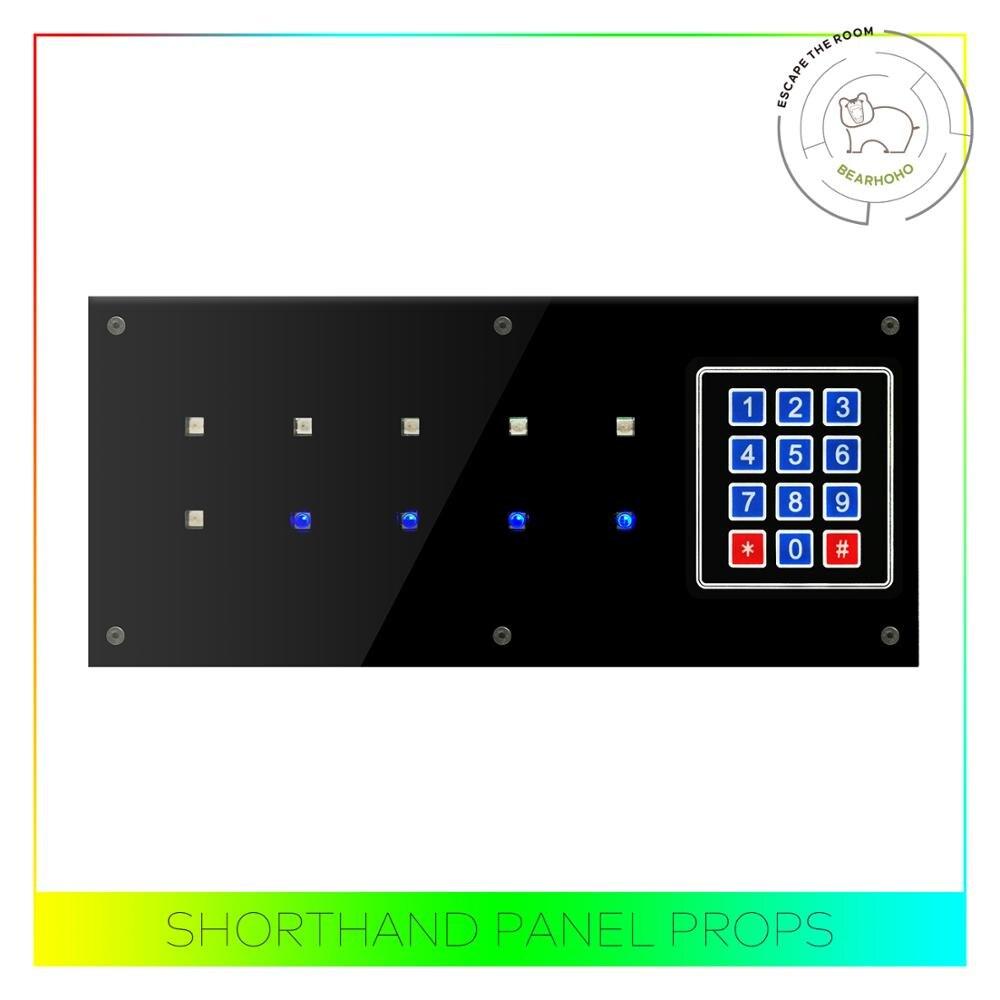 Rekwizyty do pokoju zagadek Shorthand Panel sterowania 12V EM blokada do otwierania drzwi Takagism gry pamięć panelu Prop ekspansja gry