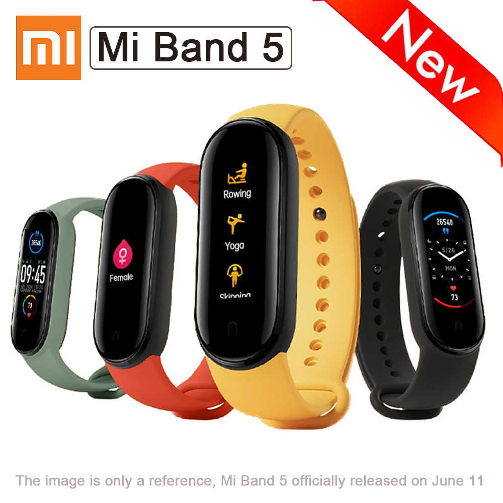 2020 Xiaomi Mi Band 5 Smart Armband Kleur Amoled Screen 11 Sport Modes Remote Camera Functie Bluetooth Sport Slimme Band