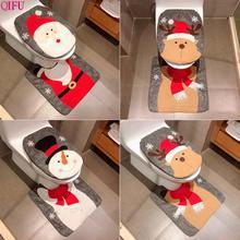 QIFU рождественское сиденье для унитаза Санта Клаус рождественские украшения Рождественские украшения для дома натальные подарки на год