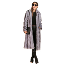 S-4xl Plus Size Long Faux Coat Fashion Lapel Collar Sleeve Winter Women Overcoat High Quality Warm Fur