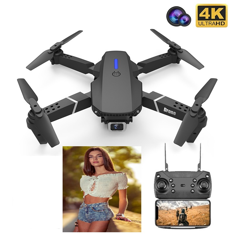 New RC Drone E525 WIFI FPV And Wide-angle High-definition 4K Dual Camera Height Keep Foldable Quadrotor Dron Best Gift