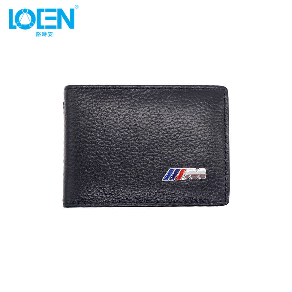1PCS Black Auto Driver License Bag PU Leather Credit/Bank Wallet Card Document Holder Cover Case For BMW 107mm*80mm*18mm