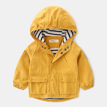 2019 Fashion Boys Trench Coats Hooded Jackets for Babies Children Windbreakers Toddlers Outerwears Kids Overcoats Jacket Boy