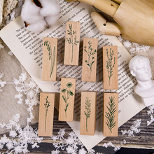 XINAHER винтажное растение корнушка украшение штамп деревянные резиновые штампы для stationery канцелярские принадлежности DIY ремесло Стандартный штамп