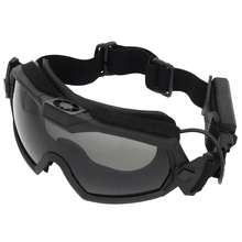 Tactical Goggle Anti-Fog Anti-Shock With Fan Ventilation Indoor and Outdoor Dual Mode Scene Airsoft Paintball Ski Helmet Glasses