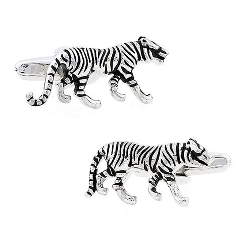 Tiger Cufflinks Top-grade Men's Unisex Daily Casual French Shirt Buttons High-quality Copper Personality Animal Cuff Links Gifts